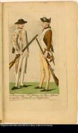 1. Americanischer Scharffschütz oder F?er, (Rifleman) 2. regulaire Infanterie von Pensÿlvanien.