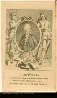 JOHN WILKES ELECTED KNIGHT OF THE SHIRE FOR MIDDLSEX ON THE XXVIIITH. OF MARCH, MDCCLXVII BY THE FREE VOICE OF THE PEOPLE.