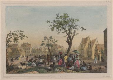 13. Vue du grand Marché aux légumes, fruits et volailles.