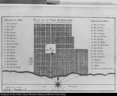 Plan de la Ville de Kingston