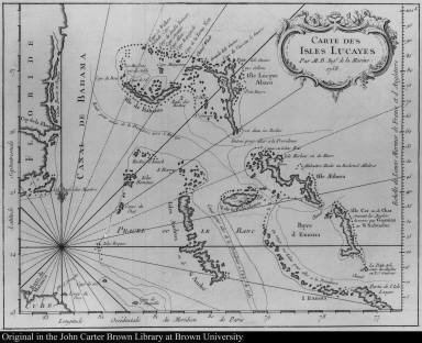 Carte des isles Lucayes