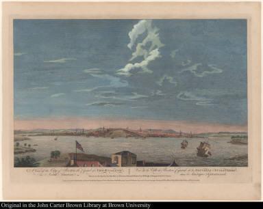 A View of the City of Boston the Capital of New England, in North America. Vue de la Ville de Boston Capitale de la Nouvelle Angleterre, dans l'Amerique Septentrionale