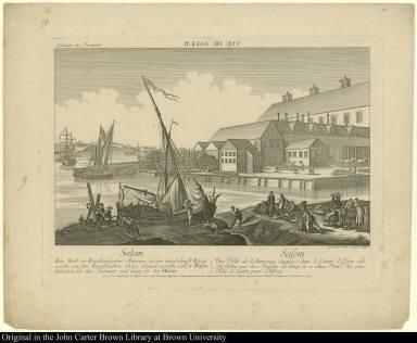Vuë de Salem. Salem. Eine Stadt im Engelländischen America, in der Grafshaffts Essex ....