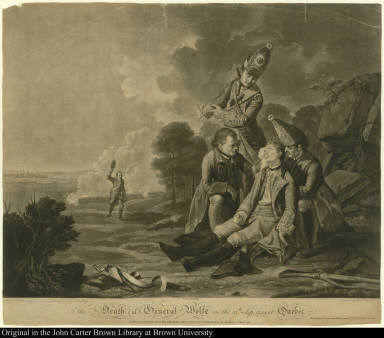 The Death of General Wolfe on the 13th. Septr: 1759, at Quebec.