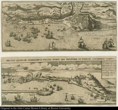Die stat Olinda de Phernambuco welche durch die Hollender im Februari 1630 Erobert worden.