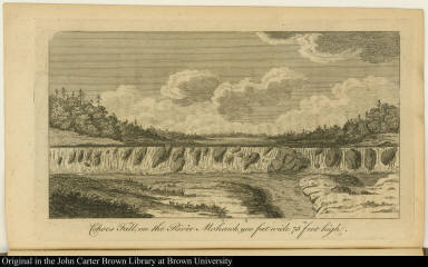 Cohoes Fall, on the River Mohawk, 900 feet wide 75 feet high.