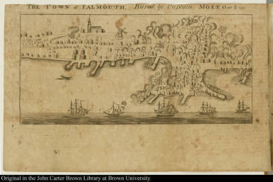 The Town of Falmouth, Burnt, by Captain Moet, Octbr. 18th 1775.