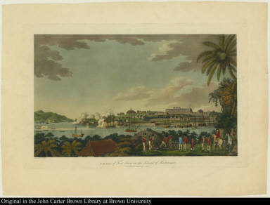 N. E. view of Fort Louis in the Island of Martinique.