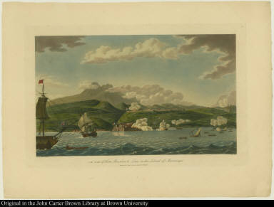 S. W. view of Forts Bourbon & Louis, in the Island of Martinique.