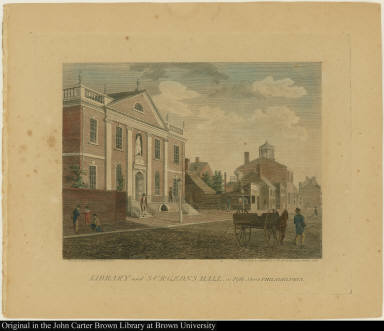 Library and Surgeons Hall, in Fifth Street Philadelphia