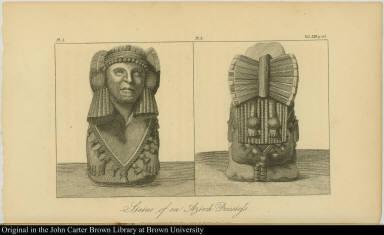 Statue of an Azteck Priestess.
