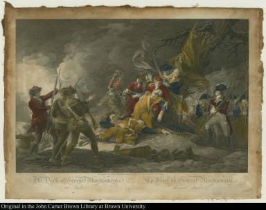 The Death of General Montgomery at Quebec: La Mort du Général Montgomery devant Quebec