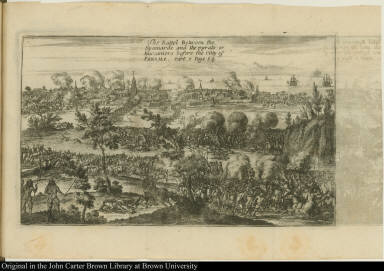 The Battel Between the Spaniards and the pyrats or Buccaniers before the citty of Panama.
