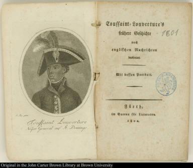 Toussaint Louverture Neger General auf St. Domingo.