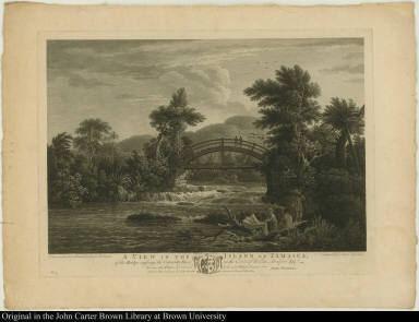 A View in the Island of Jamaica, of the Bridge crossing the Cabaritta River, on the Estate of William Beckford Esqr: