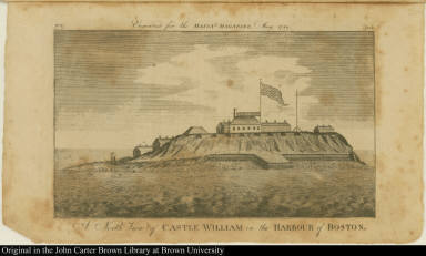A North View of Castle William in the Harbour of Boston.