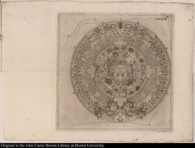 [Aztec calendar stone]
