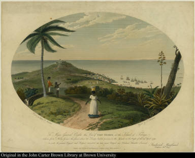 To Major General Cuyler this View of Fort George, in the Island of Tobago ...