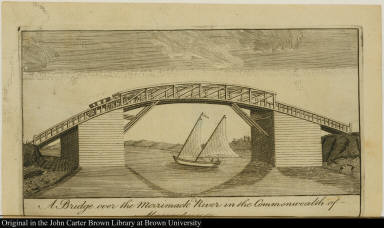 A Bridge over the Merrimack River in the Commonwealth of Massachusets.