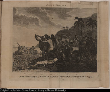 The Death of Captain James Cook, F.R.S. at Owhyhee in 1779