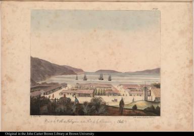 Vue de la Ville de Talcaguano et du Port de la Conception (Chili)