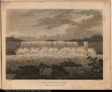View of the lesser Fall of Niagara.
