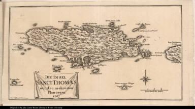 Die Insel Sanct Thomas mit den mehresten Plantagen