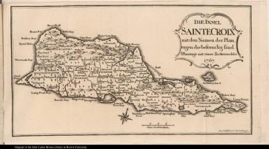 Die Insel Sainte Croix mit den Namen der Plan-tagen die bestaendig sind.