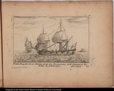 Petite Fregatte de 10. Canons pour les decouvertes et le Commerce des Isles de l'Amerique.