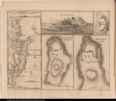 [Saint Catherine Island and forts]