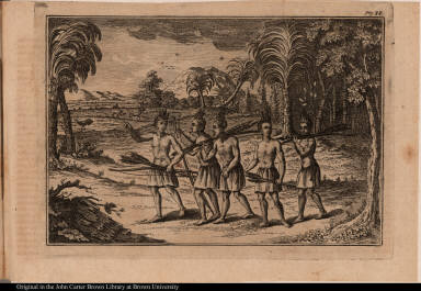 [Native American hunting party]