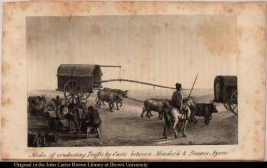 Mode of conducting Traffic by Carts between Mendosa & Buenos Ayres.