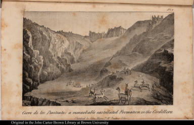 Cerro de los Penitentes a remarkable castellated Formation in the Cordillera.