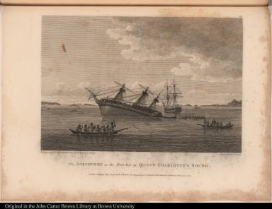 The Discovery on the Rocks in Queen Charlotte's Sound.