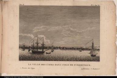 La ville des Cayes dans l'isle de St. Domingue.