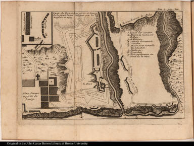 Plan du Fort et d'une partie du Bourg de la Guadeloupe. Attaquée par les Anglois en 1703.