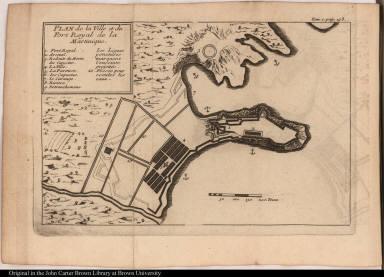 Plan de la Ville et du Fort Royal de la Martinique.
