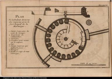 Plan De la Redoute du morne des Capucins pres le fort Royal de la Martinique.