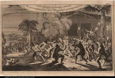 Schrikkelyke Handeling omtrent de gevangenen die inde Krygstogt gevange werden.