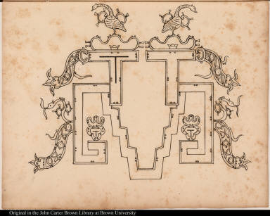 [Palenque relief. Window or architectural form?]