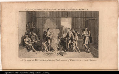 The Ceremony of a Divorce, as practised by the natives of Canada, in North America.