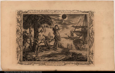 The Indians Astonished at the Eclipse of the Moon foretold by Columbus.