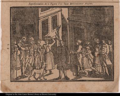 Représentation de la Figure d'un faux Dénonciateur Anglois.