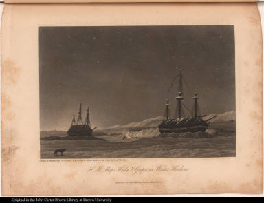 H. M. Ships Hecla & Griper in Winter Harbour.