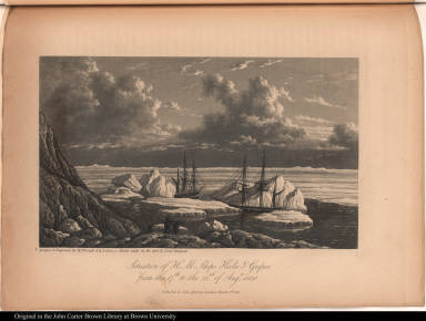 Situation of H. M. Ships Hecla & Griper, from the 17th. to the 23rd. of Augt. 1820