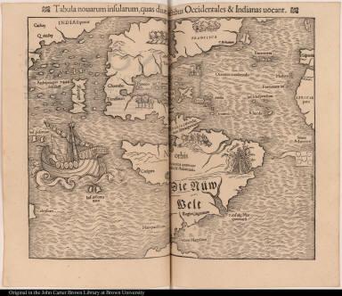 Tabula nouarum insularum, quas diuersis spectibus Occidentales & Indianas uocant.