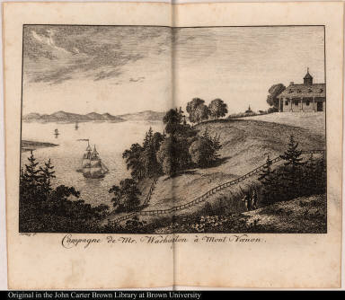 Campagne de Mr. Washington à Mont Vernon.