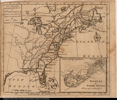 The British Governments in Nth. America Laid down agreeable to the Proclamation of Octr. 7. 1763.
