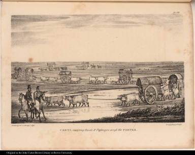 Carts conveying Goods & Passengers across the Pampas.