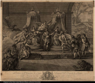 [Celebration of the victories of d'Estaing] Dediée à Monsieur le Comte d'Estaing, Vice-Amiral de France. ...